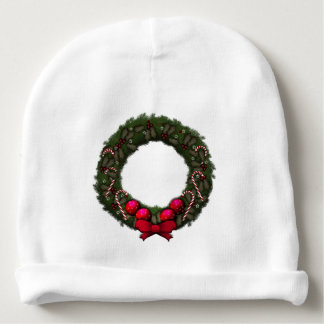 Holiday Wreath Baby Beanie
