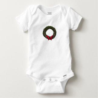 Holiday Wreath Baby Onesie