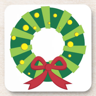Holiday Wreath Drink Coaster