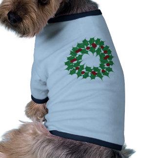 Holiday Wreath Dog Tee Shirt