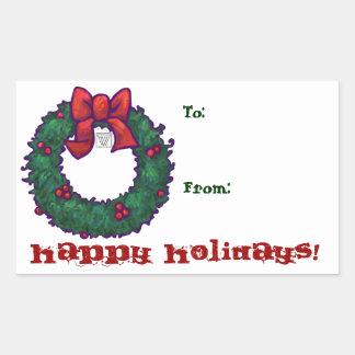 Holiday Wreath Gift Sticker