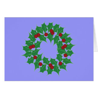 Holiday Wreath Greeting Card
