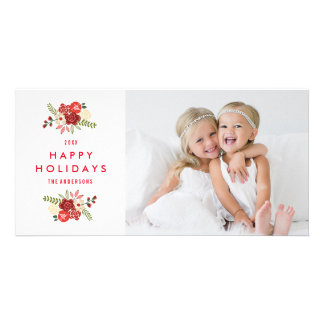 Holiday Wreath   Holiday Photocard Card