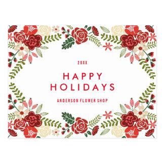Holiday Wreath | Holiday Postcard