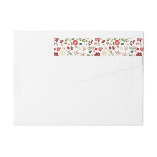 Holiday Wreath | Holiday Return Address Labels Wraparound Return Address Label