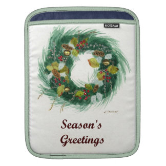 Holiday Wreath Sleeves For iPads