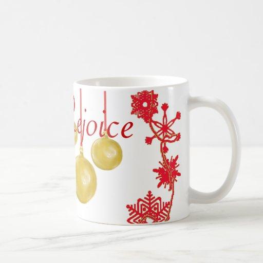 Holiday Wreath & Ornaments Red Mug