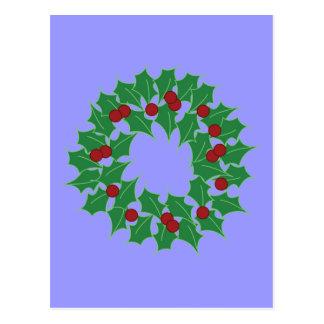 Holiday Wreath Postcard