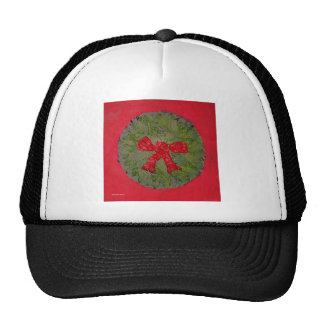 Holiday  Wreath Red & Green Hats