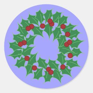 Holiday Wreath Round Sticker