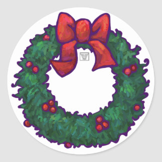 Holiday Wreath Sticker