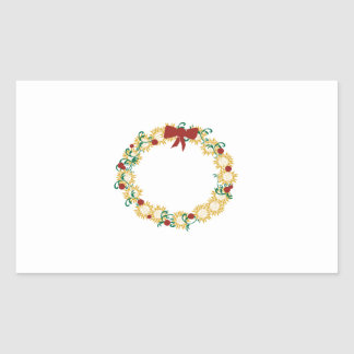 Holiday Wreath Rectangle Stickers
