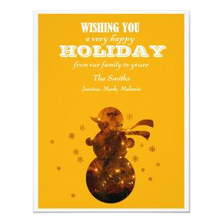 Holiday Yellow 11 Cm X 14 Cm Invitation Card