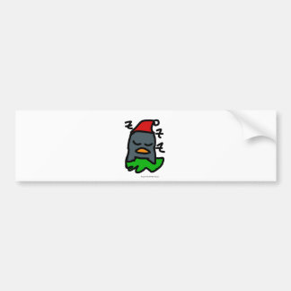 Holiday Zzz Penguin by Penguin World Order Designs Bumper Sticker