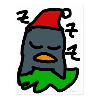 Holiday Zzz Penguin by Penguin World Order Designs Postcard