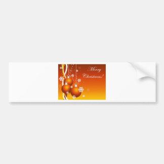holidays decoration bumper sticker