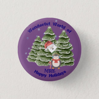 Holidays Festive School Botton 3 Cm Round Badge