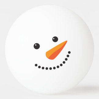 Holidays Frosty Snowman Ping Pong Face Ping Pong Ball