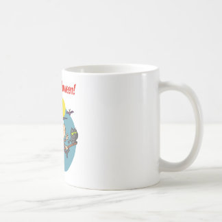 Holidays Greeting With Halloween Little Witch Coffee Mugs