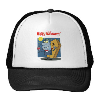 Holidays Greeting With Halloween Vampire Trucker Hat