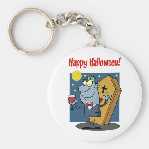 Holidays Greeting With Halloween Vampire Keychain