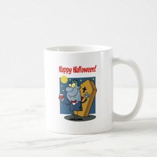 Holidays Greeting With Halloween Vampire Coffee Mugs