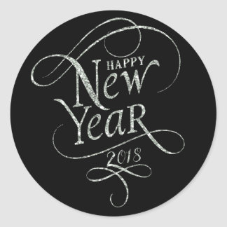 Holidays - Happy New Year 2018 Classic Round Sticker