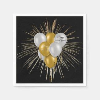 Holidays - Happy New Year Balloons Disposable Napkin