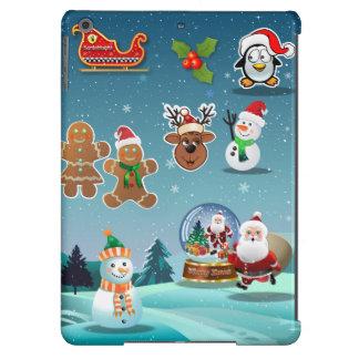 Holidays Scene Cartoon iPad Air Covers