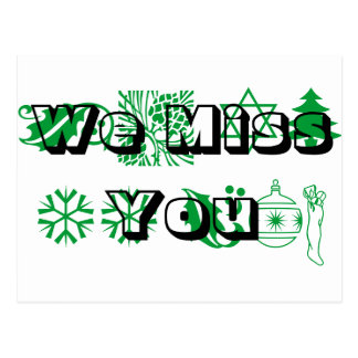 Holidays, We Miss You Post Card