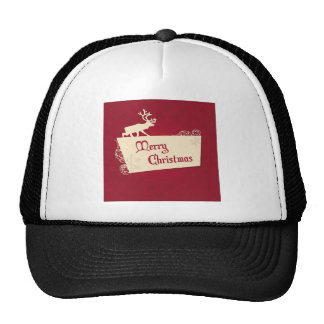 Holidays Wishes Christmas Reindeer Trucker Hat