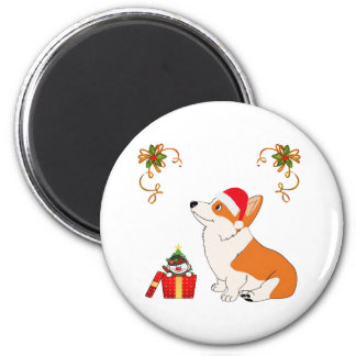 HolidayWelsh Corgi Cartoon Magnet