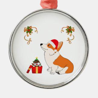 HolidayWelsh Corgi Cartoon Metal Ornament