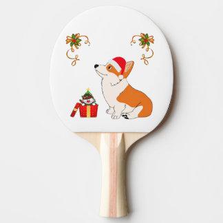 HolidayWelsh Corgi Cartoon Ping Pong Paddle