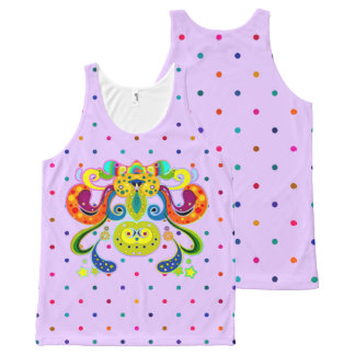 holiES - abstract happy holy Cow + your ideas All-Over Print Tank Top