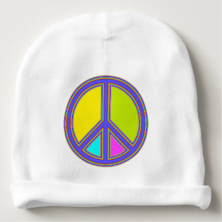 holiES - colorful PEACE sign + your ideas Baby Beanie