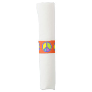 holiES - colorful PEACE sign + your ideas Napkin Band