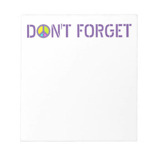 holiES - colorful PEACE sign + your ideas Notepads