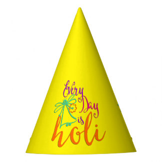 holiES - Every Day is Holi + your backgr. & ideas Party Hat