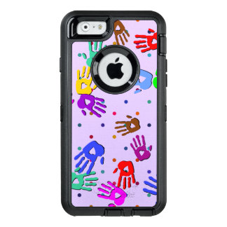 holiES - hands dots colored pattern 1 OtterBox iPhone 6/6s Case