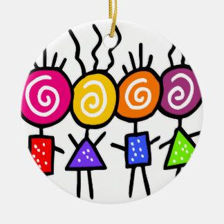 holiES - HOLI BEST FRIENDS + your ideas Round Ceramic Decoration