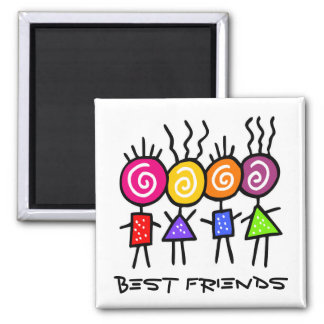 holiES - HOLI BEST FRIENDS + your ideas Square Magnet