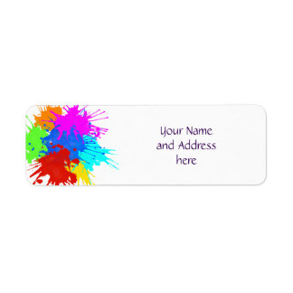 holiES - Splashes round 2 + your ideas Return Address Label