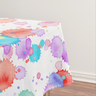 holiES - Splatter multicolored 1 + your backgr. Tablecloth