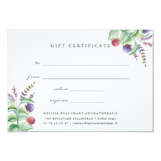 Holistic Aromatherapist Organic Spa Gift Card