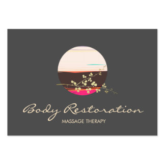 Holistic Health and Wellness Massage Therapist Pack Of Chubby Business Cards