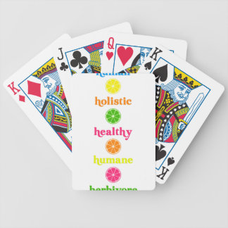 Holistic-Human-Herbivore Bicycle Playing Cards