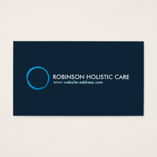 Holistic, Naturopath, Healer, Healthcare, Zen Logo Business Card
