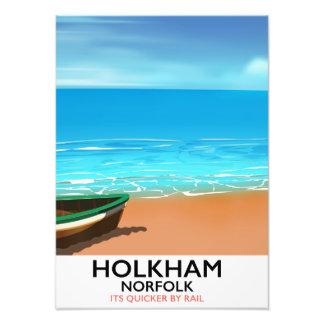 Holkham Norfolk Beach travel poster