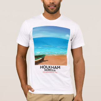 Holkham Norfolk Beach travel poster T-Shirt